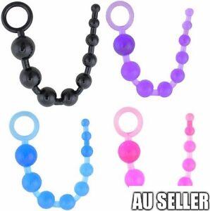 Unisex Anal Beads Butt Adult Sex Toy PSPOT Chain Flexible Massager 28CM
