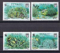 Tuvalu 1992 postfrisch MiNr. 638-641  WWF Blaue Koralle