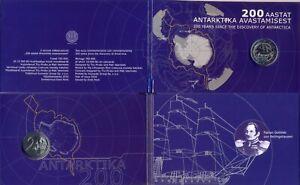 Estonia 2 euro 2020 mint coin card 200th Anniversary Discovery of Antarctica BU