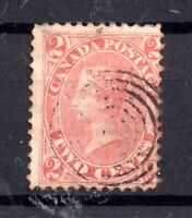 British Canada 1859 2c rose very fine used #20 scarce WS15612