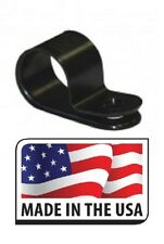 """(100) 1/4"""" CABLE CLAMP NYLON BLACK UV RESISTANT HOSE WIRE ELECTRICAL .250 USA"""