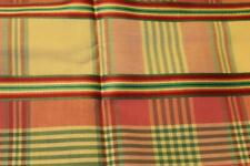 VINTAGE PLAID PINK YELLOE GREE  QUILT SEWING COTTON FABRIC 1 1/2 YARDS