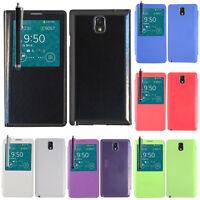 Housse etui coque pochette plastique View Case Samsung Galaxy Note 3 N9000