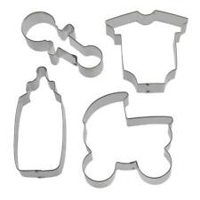 Baby Shower Cookie Cutter 4 Pc Set HS0409 - Foose Cookie Cutters - US Tin Steel