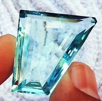 Loose Gemstone Light Blue Aquamarine Between 47 to 52 Cts Certified Free Shipping With Free Gift