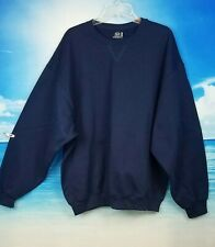 FRUIT OF THE LOOM Mens NAVY BLUE Sweatshirt Stretch Fleece Interior size 2x
