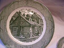 "Vintage Royal China Ye Olde Curiosity Shop Dinner Plate Green 10"""