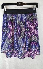 Dynamite Size XS/TP Hi-lo Mini Skirt, Multi colored