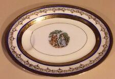 Bern Lan Fine China 22 Karat Gold Courtship Oval Serving Platter