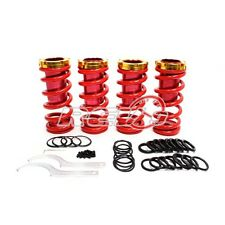 """Red/Gold 0""""-3"""" Honda/Acuca Lowering Sleeve Adjustable Coilover Spring Suspension"""