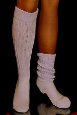 6 Lilac Slouch to Knee Socks Heavy Long for Hooters Uniform Lt Purple Sexy Warm