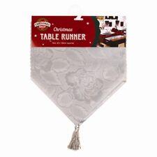 NATALE - Runner da tavolo rosso Xia FASHIONS Babbo tovagliette argento