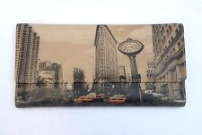 New York Wallet Women's Leather Purse Flat Iron Bldg Manhattan Wallet NY Gifts