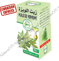Huile de Verveine BIO 100% Pure & Naturelle 30ml Verbena Oil, Aceite de Verbena