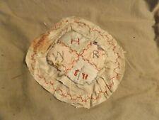 New listing Antique 1841 Folk Art Cross Stitch Sampler Sewing Pin Cushion Fragile Losses