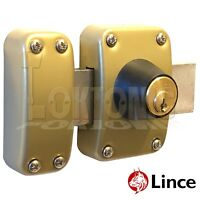 Lince Lock High Security Heavy Duty Garden Gate Shed Garage Rim Dead Bolt