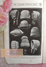 Vintage 1920s Knitting & Crochet Patterns For Baby & Childs Bonnets & Hats