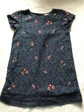 Girls Age 4-5 Years Navy Blue Floral Lace Dress Occasion Summer Dress