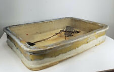 Antique Vintage Japanese Large Junyao Pottery Bonsai Pot Planter Jardiniere