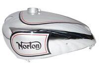 1940 Norton 16h Es2 Gas Petrol Fuel Tank Silver Painted & Chrome Plated Ecs
