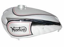 1940 Norton 16h Es2 Gas Petrol Fuel Tank Silver Painted & Chrome Plated S2u