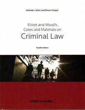 Elliott & Wood's Cases and Materials on Criminal Law by Allen, Michael, Cooper,