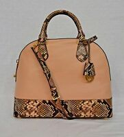 NWT! MICHAEL Michael Kors Smythe Snake-Embossed LARGE Convertible Dome Satchel