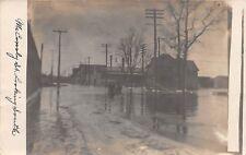 D19/ Battle Creek Michigan Mi Real Photo RPPC Postcard 1908 Flood Disaster 2