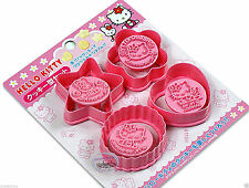 Hello Kitty Cookie MOLD Cutters Stamp Mould cutter Set of 4 kitchen party