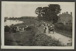 Postcard Norton nr Gloucester the Wainlodes Hill pub by River Severn early RP