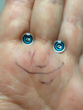 M00216 MOREZMORE Eyes Glass 7mm Seconds BROWN Small 7 mm Mini Miniature Doll A60