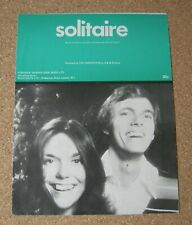SOLITAIRE SHEET MUSIC. THE CARPENTERS.
