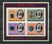 27539) Guinea 1976 MNH New Telephone - Bell S/S Bf