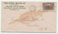 1894 Cleveland Ohio Steel Motor co. ad cover street railway supplies [4722.11]