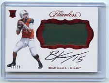 BRAD KAAYA 2017 FLAWLESS COLLEGIATE ROOKIE AUTOGRAPH PATCH 01/20