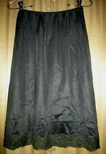 Vintage Hollywood Vassarette Munsingwear Black Half Slip Pillow Tab M Lingerie