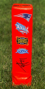 New England Patriots #24 TY LAW Signed Autographed Football Pylon COA! SB CHAMPS
