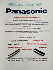 PANASONIC TX-42A400B V420FWSD09 SV0420A88 25 PIECE LED BACKLIGHT REPAIR KIT