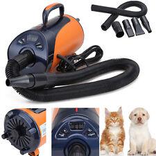 55DB 2800W Dog/Pet Cat Grooming Blaster Dryer Ajust Speeds Led Display UK Plug