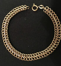 18k Solid Yellow Gold Mesh Bracelet