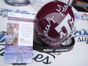 Jacob Green signed Texas A&M Aggies mini helmet Gig Em Seattle Seahawks JSA COA