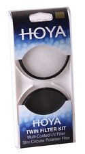 Hoya 58mm TWIN FILTER KIT Multi-Coated UV & Slim Circular Polariser *UK STOCK*