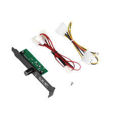 Cooler Cooling Fan Speed Controller 3 Channels PC for CPU Case HDD DDR VGA
