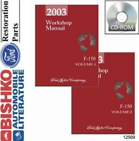 2003 Ford F-150 Truck Shop Service Repair Manual CD Engine Drivetrain Electrical
