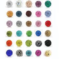 20Pcs Czech Crystal Rhinestones Pave Clay Disco Ball Beads Jewelry 6/8/10/12mm