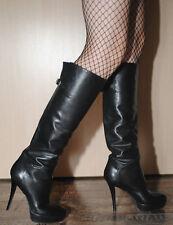 Baldan Stivali 39,5 pelle nero elegante nella scatola originale