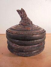 Céramique Vintage 50 Rare Pot Couvert Forme libre Brutaliste Raku DLG Puisaye