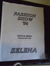 Selena Quintanilla Fashion Show 1994 8 Page Itinerary Photo Copied RARE & HTF