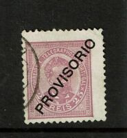 Portugal SC# 92, Used, Hinge Remnants, very shallow corner thin - S5599