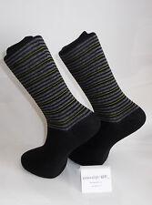 Righe grigie e delle linee gialle Design Calzini. Calze Nero-Cotone Calze Ricche
